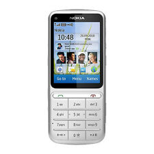 original Nokia C3-01 Touch and Type Silver cell phone 3G Unlocked WIFI