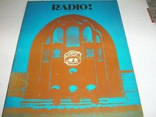Vintage 1975 - RADIO! by G. Howard Poteet ILLUSTRATED with B&W period Photos