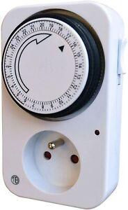 Programmateur journalier mécanique 24H minuteur minuterie prise programmable