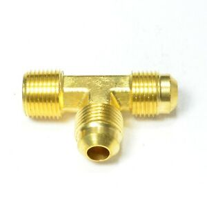3/8 Male Sae 45 Flare to 3/8 Npt Male Run Tee Union Fitting Natural Gas Propane