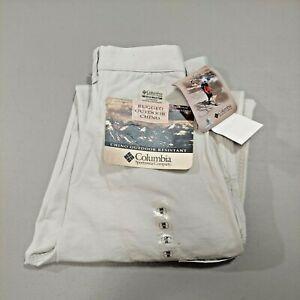 Columbia Men's ROC Pants Stone Tan Beige New 34 x 30 Rugged Outdoor Chino