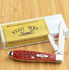 Case XX Tony Bose Pocket Worn Red Jigged Bone Teardrop Jack Knife 10302 TB62028