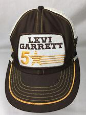 Vintage Levi Garrett 5 Star 3 Stripe Usa Made Trucker Snapback Hat