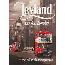 Leyland Bus small metal sign 210mm x 150mm   (hb)