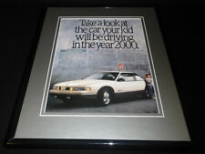 1989 Oldsmobile Cutlass Supreme Framed 11x14 ORIGINAL Advertisement