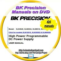BK Precisions Manuals Pioneer Electronic Testing Industry 424  1 DVD