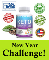 Ultra Keto Diet Pills 60 Capsules BHB Best Ketogenic Weight Loss Supplement