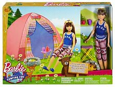 Barbie Camping Fun Tent, Skipper Doll and Accessories *NEW*
