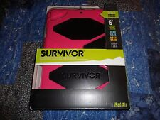 Heavy Duty Griffin Survivor All-Terrain Case with Stand for iPad Air Pink Black