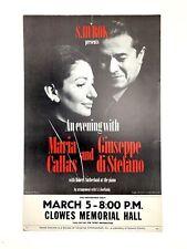 An Evening with Maria Callas & Giuseppe Di Stefano - Poster (Opera) (Soprano)