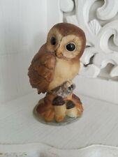 Andrea by Sadek Owl Bird Figurine Porcelain Japan 6350 Vintage