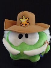 """CUT THE ROPE - SOFT PLUSH TOY - STETSON - MOUSTACHE - 9"""" WIDE, 9"""" TALL.  NEW"""
