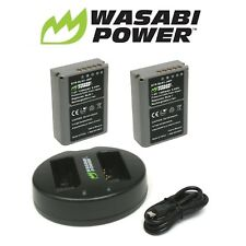 Wasabi Power Battery x 2 and Dual USB Charger for Olympus BLN-1, OM-D E-M1, E-M5