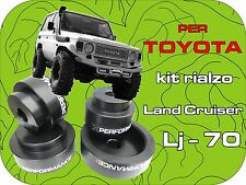 per TOYOTA LJ 70 KIT RIALZO DISTANZIALI ASSETTO 50mm kit lift spacer rises