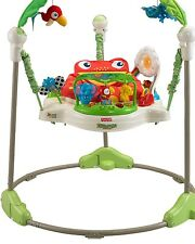 Fisher-Price Rainforest Jumperoo 360 Seat Music Lights Play Teether Toys New