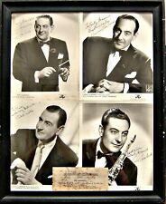4 Original Autographs On Framed Photos: Guy Lombardo and Brothers In Memphis,TN