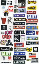 54 pcs Supreme Box Logo Vinyle Autocollants, streetwear Skateboard Autocollant Pack