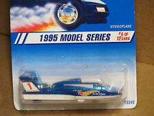 Hot Wheels 1995 Model Series Hydroplane Blue #6 & White NEW IN BOX