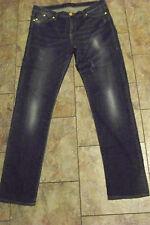 wpomens rock & republic berlin faded dark wash denim jeans size 14 m 33 x 32