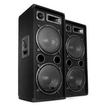 PA Speakers DJ Party Loud Audio 3 way Hi Fi Sound 2000W max Concerts Event Black