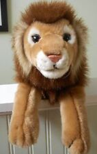 "LION Plush Stuffed Animal Alley TOYS R US Brown White Jungle King Large 19"" Long"