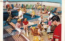 Postcard Home Lines Ship Life on Board SS Homeric #2
