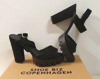 ё ) SHOE BIZ HOPENHAGEN Deelia Marken Schuhe Gr. 40 39 38 41 schwarz Sexy NEU