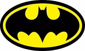 Diecut Vinyl BATMAN LOGO Decal Sticker Comic Dark Knight Colored