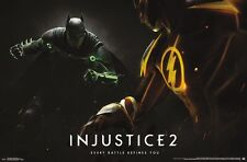 INJUSTICE 2 - BATMAN & FLASH - VIDEO GAME POSTER 22x34 - DC COMICS 15173