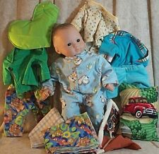 """Baby Doll Clothes Made2Fit American Girl Bitty 15"""" Lot 11 pc Footed Pajamas"""