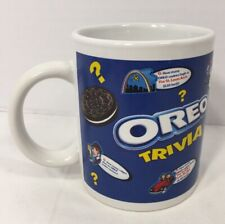 New listing Oreo Collectable Coffee Mug Trivia Cup Nabisco Cookies Blue White Cookie Dipper