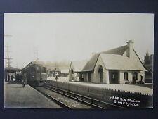 Glen Ellyn Illinois CA&E Railroad Train Station Real Photo Postcard RPPC c1910