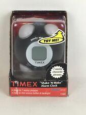 Timex Wacky Phrases Shake N Wake Alarm Clock Black