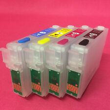 4 Refillable Empty Reset Refill Ink Cartridge For Epson Workforce WF-3010DW 3010