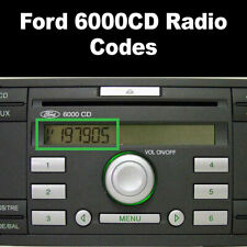 Ford 6000CD Radio Code Your Stereo In Minutes Online | Fast Service UK