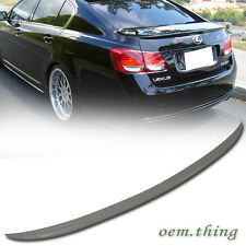 Unpainted For LEXUS GS350 GS460 4D OE Style Rear Trunk Spoiler 2006-2011 ABS