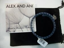 Alex and Ani Gypsy 66 Blue Wrap Expandable Bracelet   NWT