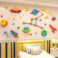 3D Stereo Removable Kids Wall Sticker Cosmic Starry Sky Wallpaper Bedroom Decor