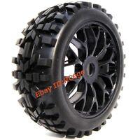 4 Stück 1/8 RC Off Road Buggy Tires Reifen Felge for Losi HPI XTR Badlands Car