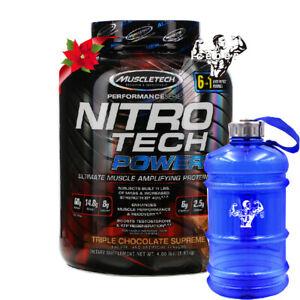 Muscletech, NitroTech Power, Ultimate Muscle Amplifying Triple Chocolate-1.81 kg