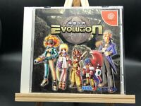 Evolution: The World of Sacred Device w/spine (Sega Dreamcast, 1999) from japan
