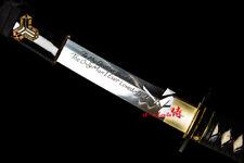 KILL BILL BUDD'S SAMURAI KATANA CLAY TEMPERED T10 STEEL RAZOR SHARP BLADE SWORD