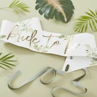 Bride To Be Sash Botanical Hen Party Decorations Eucaliptus Bachelorette Rustic