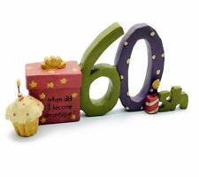 Sessantesimo compleanno regalo RESINA sentimento Table Top mantello PLACCA phd150-hs