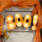"""Scary """"BOO"""" Nostalgic Lighted Distressed Metal Sign Halloween"""