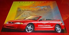 1994 Ford Mustang Cobra Indianapolis 500 Official Pace Car Poster 78th Indy 500