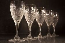 Clear Etched Antique Original Crystal & Cut Glass Objects
