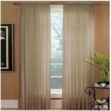 "Miller Preston One Rod Pocket Panel Linen 52"" x 84"" in Tan"