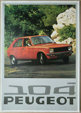 1975 Peugeot 104 saloon Export brochure