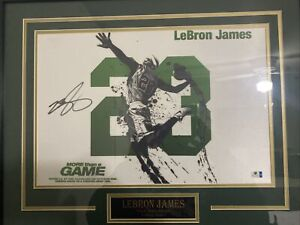 LEBRON JAMES autographed photo